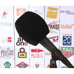 Mikrofon-Windschutz Dreieck 90x85mm.