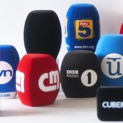 Logo auf Mikrofonwindschütze